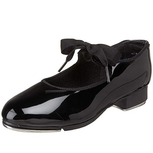 Capezio Women's N625 Jr. Tyette Tap Shoe,Black Patent,10 M US