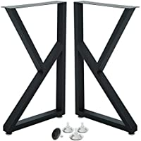 2-Piece Heoniture Cast Iron Dining Table Legs