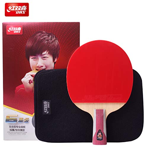 Discover Bargain DHS 6-Star Table Tennis Racket #T6006, The New Version of R6006 in 2019,with Ping...