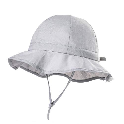 Cover Schirmmütze für Mädchen Jungen Einfarbig Sonnenhut mit Nackenschutz Sommerhut Kordelzug Verstellbar