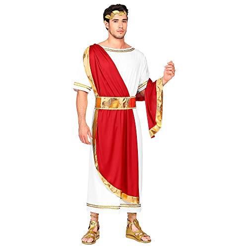 Widmann 09111 Kostüm Römischer Kaiser, Herren, Rot/Weiß, S