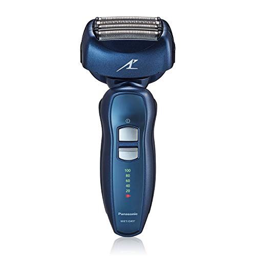Panasonic Arc4 Electric Razor for Men 4Blade Electric Shaver with Popup Trimmer Rechargeable Wet Dry Foil Shaver, Blue, 1 Count