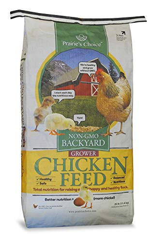 Prairie's Choice Non-GMO Backyard Chicken Feed - Grower Formula, 25lbs