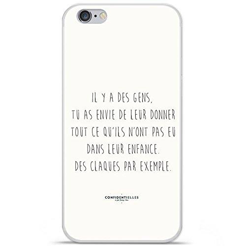 Housse Coque Etui Apple iPhone 6 / 6S silicone gel Protection arrière - Citation 01