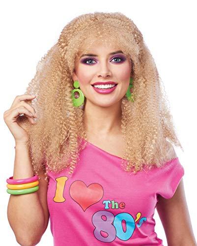 80s Geplooide Pruik Blond
