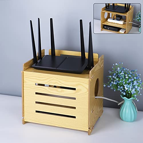 Shelf for router and modem
