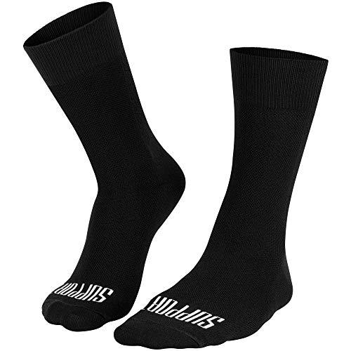 Support, calzini da ciclismo super leggeri da uomo, tecnologia traspirante, in fibra antiscivolo, accessori unisex per ciclismo, escursionismo, camminata, arrampicata, colore nero, 10-11 UK/45-46 EU