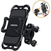 """OMERIL Bike Phone Holder, Bike Phone Mount 360° Rotatable Bicycle Handlebar Phone Holder for iPhone X/8/8 Plus,Samsung Galaxy S8 Plus/S8/S7 and Other 3.5""""-6.5"""" Devices"""