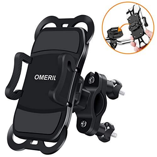 """OMERIL Supporto Smartphone Bici, Supporto per Cellulare 360° Rotabile, Porta Cellulare Moto MTB Sostegno Telefono Bici per GPS Navigatore e Dispositivi Elettronici (3.5""""- 6.5""""), Manubrio Φ17 - Φ35 mm"""