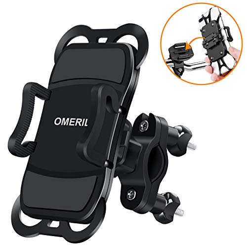 OMERIL Bike Phone Holder, Bike Phone Mount 360° Rotatable Bicycle Handlebar Phone Holder for iPhone X/8/8 Plus,Samsung Galaxy S8 Plus/S8/S7 and Other 3.5'-6.5' Devices