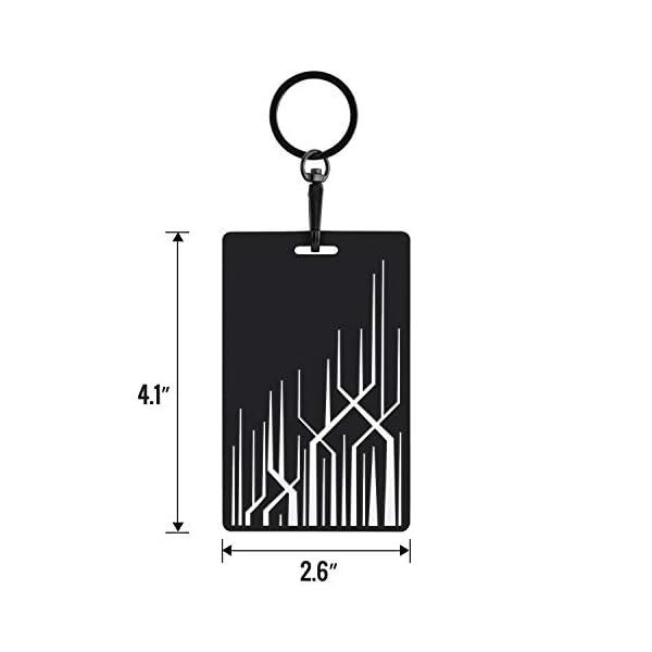 key card holder for tesla model 3, model y silicone key chain