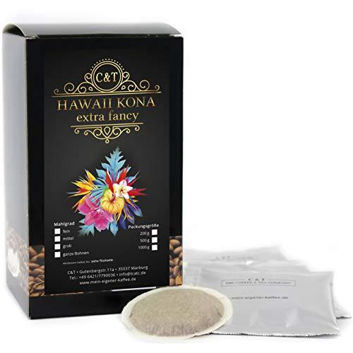 HAWAII KONA Das braune Gold aus Hawaii - 50 Kaffeepads Senseo®-Kompatibel - Einer der besten Kaffees der Welt - Echte Rarität