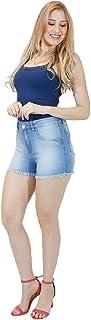 Shorts Jeans Imporium Feminino Cós Alto Cintura Alta com Barra Desfiada 45177