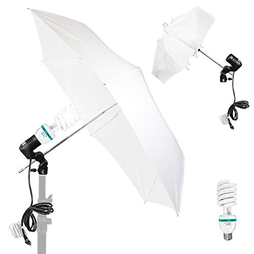 LS Photography Photo Video Studio Light, Collapsible Portable Translucent White Umbrella Continuous Lighting Kit, Professional Video Recording, Portrait Photo Shooting, LGG850