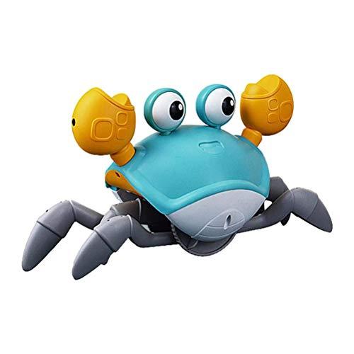 SHARRA Baby Krabben Spielzeug, Elektrisches Krabbenspielzeug mit Musik USB Automatisches Krabben Spielzeug Lustiges Fluchtkrabben Spielzeug Geburtstags Geschenke für Jungen und Mädchen