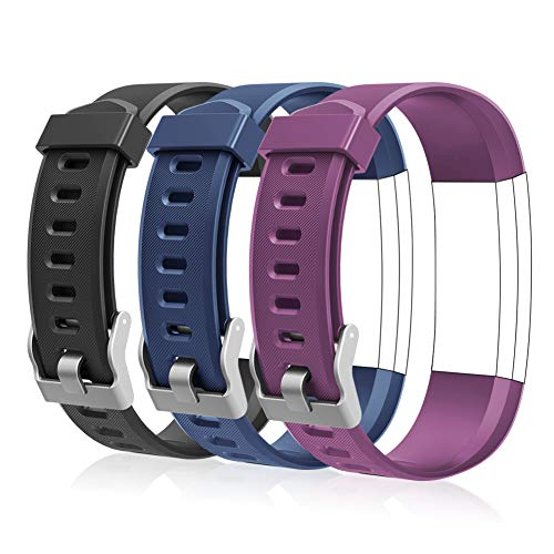 LETSCOM Replacement Bands for Fitness Tracker ID115Plus HR and ID115Pro, Adjustable Wristbands for Women Men
