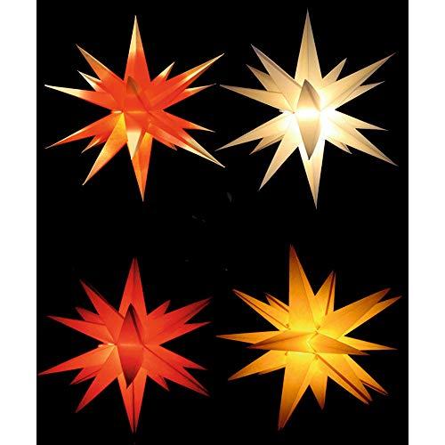 Sol y Luna Klassischer Adventsstern Weihnachtsstern Papierstern ca. 68cm für den Innenbereich (Weiss)