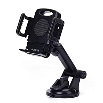Premium Car Mount Dash-Board Windshield Cradle Holder Window Glass Swivel Stand Strong Suction Compatible with Boost Mobile LG Stylo 3 - Boost Mobile LG Stylo 4 Plus - Boost Mobile LG Tribute 2