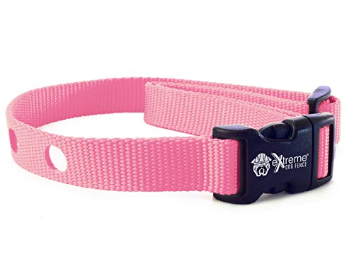 Extreme Dog Fence Dog Collar Replacement Strap - Pink - Compatible with Nearly All Brands and Models of Underground Dog Fences
