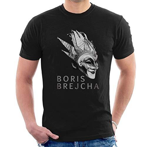 Boris Brejcha Mask T-Shirt DJ High-Tech Minimal Techno Music Men's Fashion Crew Neck Short Sleeves Cotton Tops Clothing, Black