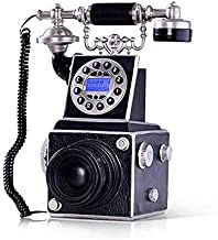 $166 » Old Fashioned Telephone European Style Decoration Home Landline with Blue Screen Caller ID European Phone Antique Camera P...
