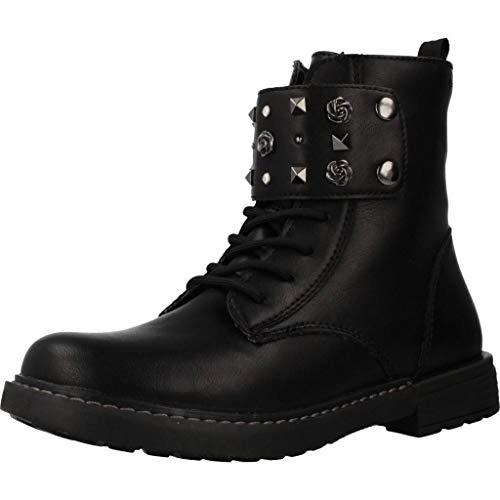 Geox J Eclair Girl C, Botas Militar para Niñas, Negro (Black C9999), 39 EU