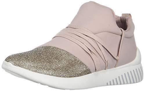 DV by Dolce Vita Women's Rumble Sneaker, Blush Fabric, 8 M US