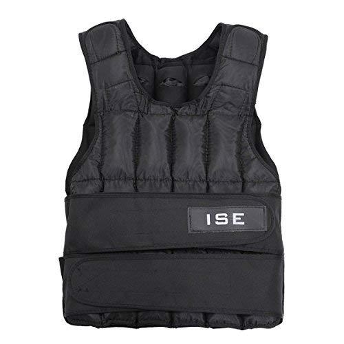 ISE SY3002-2 Vestes lestées Adulte Unisexe, Noir, Taille Unique
