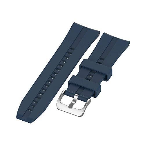Romacci Pulseira de pulseira de silicone 22mm Substituição da pulseira com fivela compatível com HUAWEI WATCH GT 2 46mm / HONOR MagicWatch 2 46mm / HONOR MagicWatch