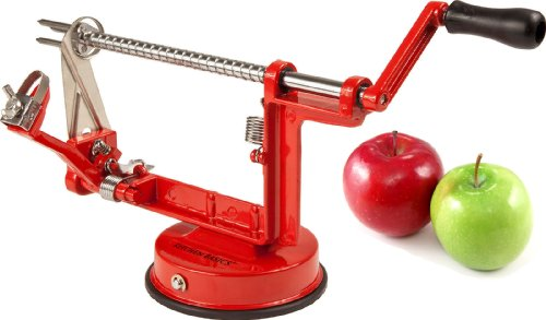 Kitchen Basics Professional Grade Heavy Duty Apple Peeler, Slicer & Corer