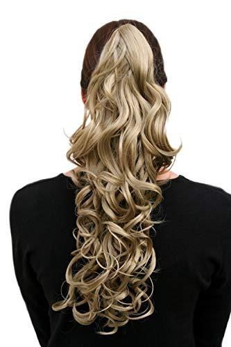 Postiche, tresse, long, bouclé, blond (Teinte 24) env. 45 cm