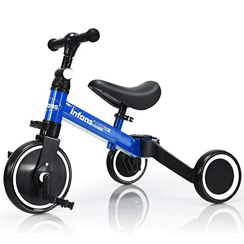 INFANS 3 in 1 Kids Tricycles for 1-3 Years Old,...