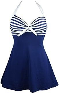 COCOSHIP Vintage Sailor Pin Up Swimsuit Retro One Piece...