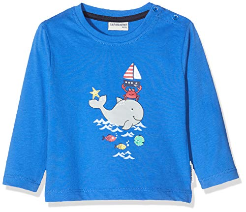 Salt and Pepper 03211102 T-Shirt Manches Longues, Bleu (Strong Blue 483), 3 Mois Bébé Fille