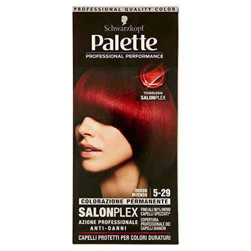 Schwarzkopf, Palette Classic, Colorazione Permanente con Tecnologia SalonPlex, 5-29 Rosso Intenso