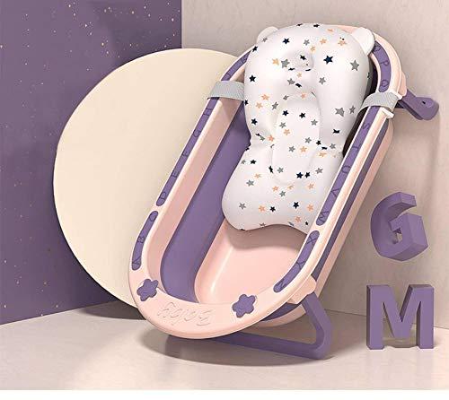 N-B Bañera para bebés Bañera Plegable para bebés Cubo de baño Antideslizante para pies Puede Sentarse y acostarse Bañera Grande portátil para el hogar Bañera Cesta de lavandería