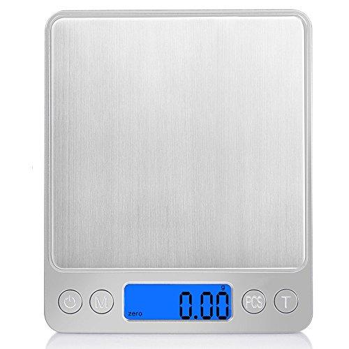 iitrust Balance de cuisine electronique, 500g-0,01g balance de Précision, Balance électronique de précision, Mini balance numérique pour fruits/légumes/farine/médecine/lait/café/thé/levure
