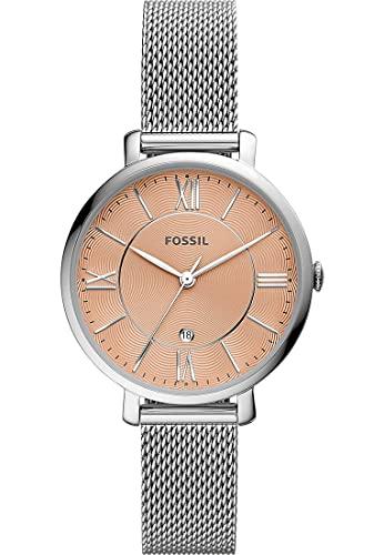 Fossil Damen-Uhren Analog Quarz One Size Silber 32017234