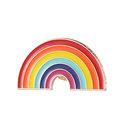 Lemon-Land Lady Kids Jewelry Gift Colorful Clouds Enamel Pins Cute Rainbow Brooch Denim Jackets Lapel Pin Badge(Style 8)
