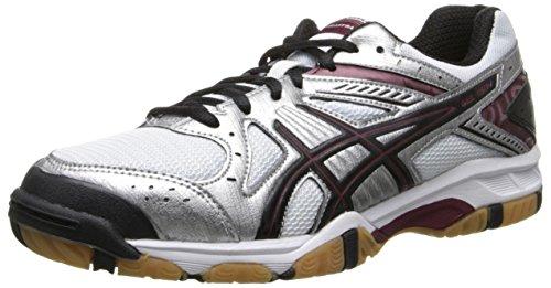 ASICS Women's Gel 1150V Volley Ball Shoe,Silver/Cardinal/Black,6 M US