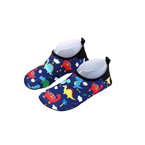 Zapatos del Agua del Cabrito Descalzo de natación Zapatos de la Historieta del Modelo del Dinosaurio Anti Slip Zapatos de Secado rápido Playa Zapatos Compatible con la Piel de Surf natación 1 Par