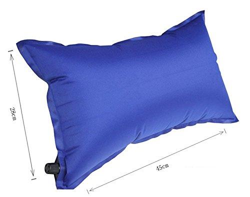 mitef selbst aufblasende Kissen für Innen und Außenbereich, 45x28cm, blau