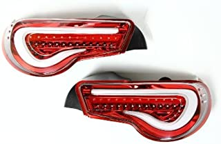 Valenti Jewel LED tail lamp 86 / BRZ (ZN6 / ZC6) Clear / Red chrome TT86Z-CR-1