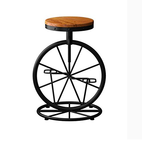 NAN liang Chaise de bar américaine Tabourets de bar hauteur réglable Vintage ancien Tabouret de bar Creative haut (H 23,6-27,5 pouces).