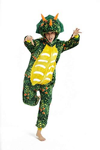 FZC-YM Adulto Animal Onesie Triceratops Disfraz Halloween Cosplay Onepiece Pijamas