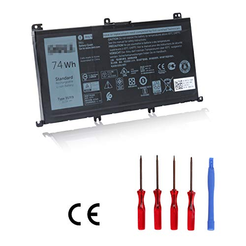 Ouside 357F9 Laptop Battery [11.1V 74Wh 6333mAh] Compatible with Inspiron 15 7000 7559 7557 7567 7566 7759 INS15PD Series, 0GFJ6 357F9 071JF4 71JF4 and More