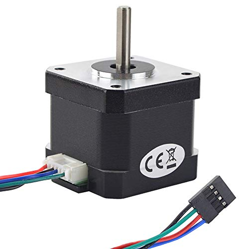 MybotOnline Nema 17 Stepper Motor Full D-cut Shaft 62oz-in 1.7A Bipolar 38mm 1.8deg 4-lead for 3D Printer CNC Reprap