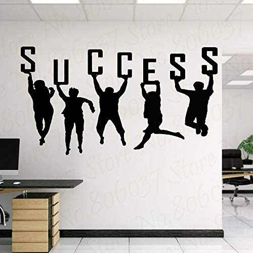 Succesvolle muurschildering kantoor muur sticker teamwork poster werk concept bedrijf wanddecoratie kunst vinyl sticker behang DIY114x63cm