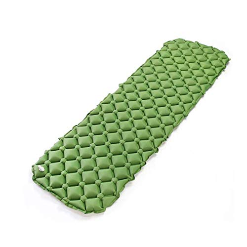 Beautiful happy Cama hinchable hinchable para cama individual, ultraligera, impermeable, a prueba de humedad, colchón inflable para acampar (color: verde)