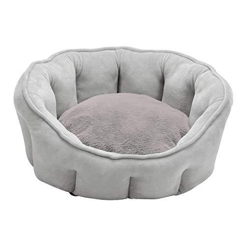 petsola Cama de Perro, cojín de Cama de Mascota, Cesta de Perro sofá, 46x46x23CM Cama de Confort Lavable a máquina para pequeño Perro Mediano - Gris